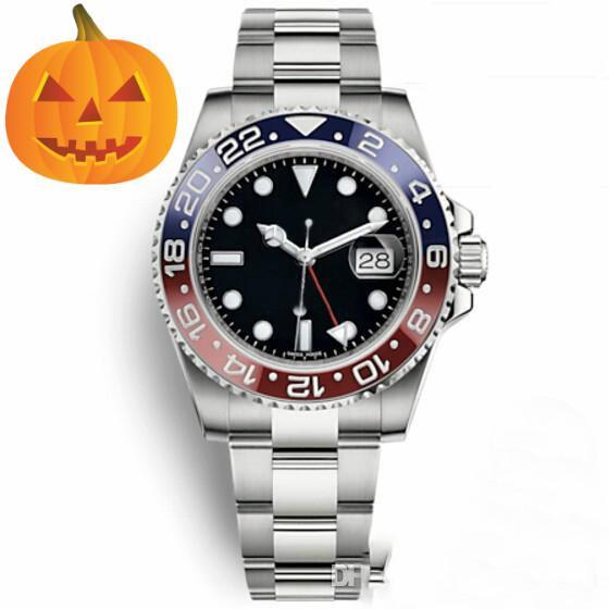 고급 남성 시계 GMT II 명품 시계 품질 남성 시계 2813 자동 기계 운동 시계 50 미터 방수 시계 사파이어