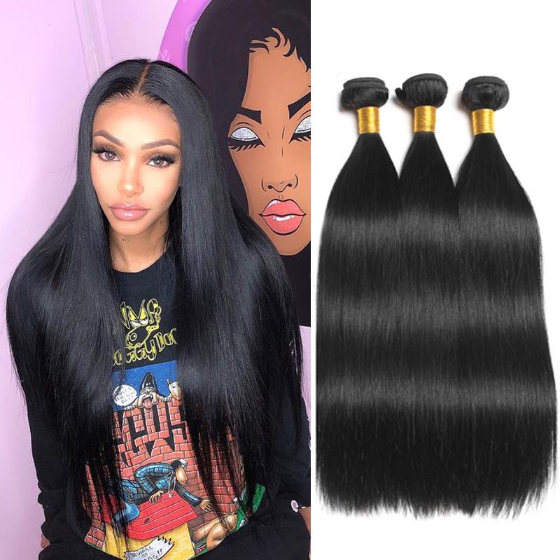 Mink brasiliana diritta offerte dei capelli umani 3 pacchi corpo dell'onda prime vergini indiani di estensioni dei capelli peruviani dei capelli umani Bundles malese Weave