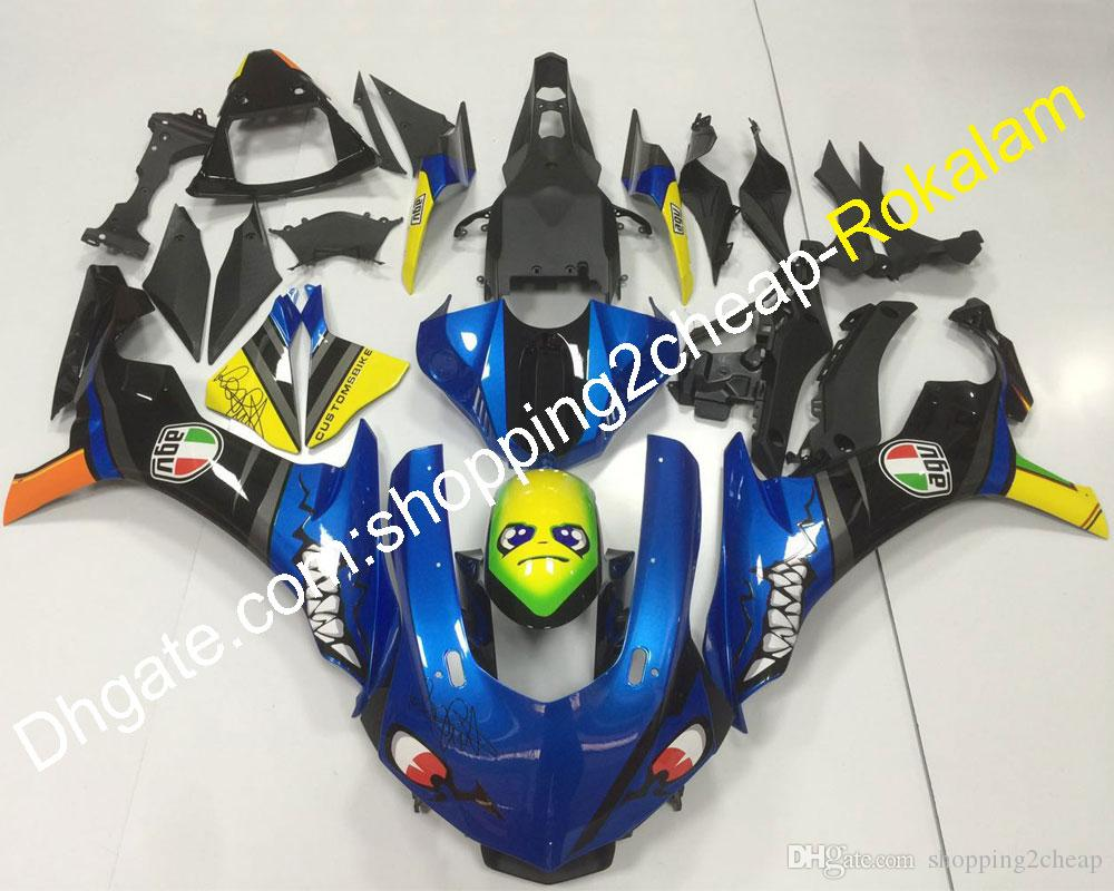 Shark Decals For Yamaha YZF1000 2015 2016 2017 2018 2019 YZF-R1 YZF R1 YZFR1 Motorbike ABS Plastic Bodywork Fairing (Injection molding)