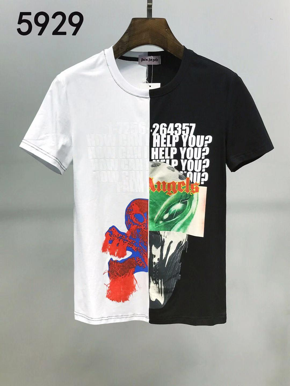 2020Man с коротким рукавом Чистый хлопок футболки Тонкий Половина одежды Лето Новый шаблон Trend Белая футболка мужская