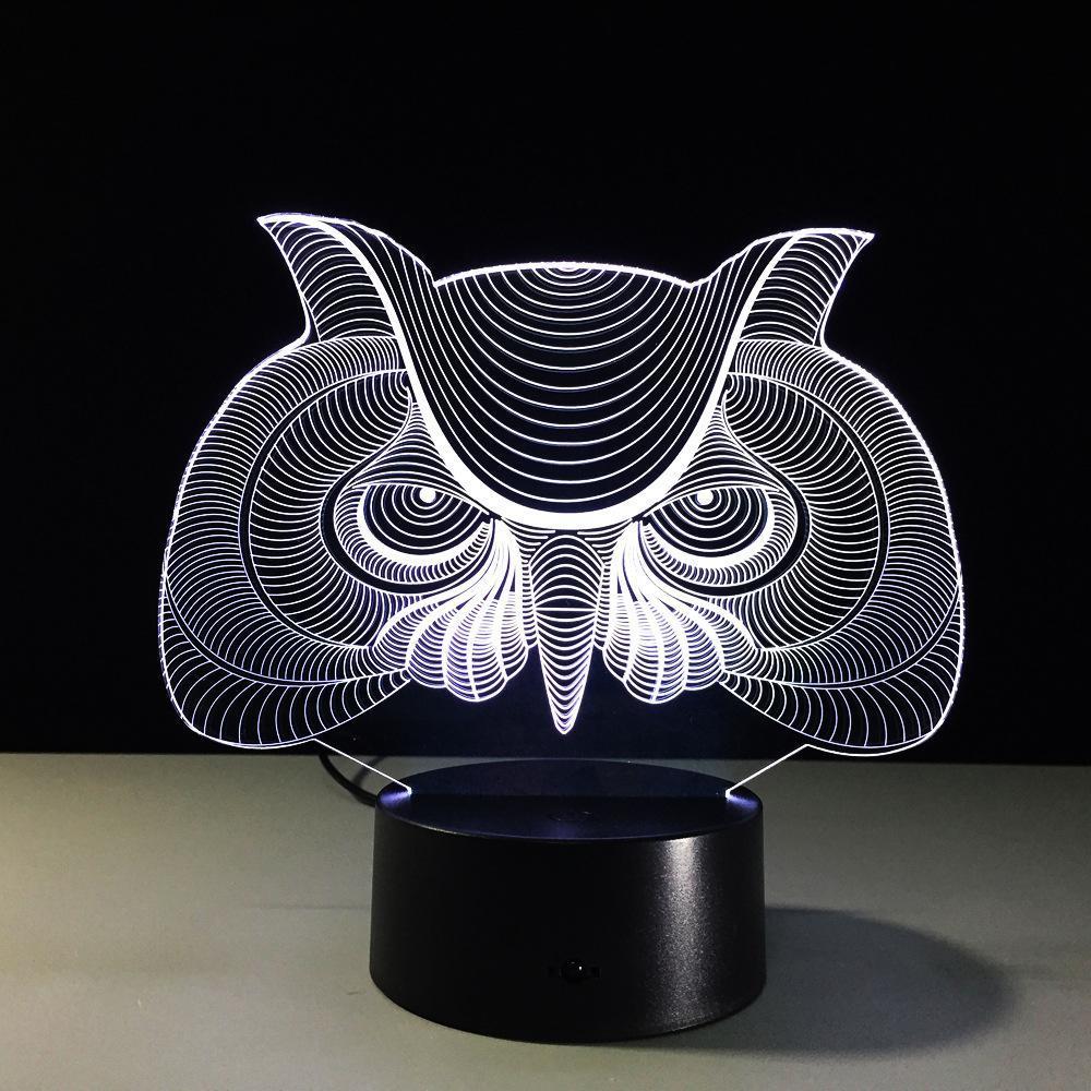 Lampe de table 7 couleurs Changement lampe de bureau 3d lampe Led Nouveauté Night Lights Led Jk0081a
