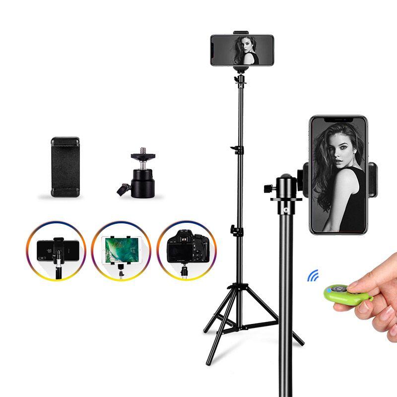 블루투스 원격 제어 셀카 섬광 사진을 가진 유투브 전화를 위한 보편적인 휴대용 알루미늄 삼각 대 산 디지탈 카메라 삼각