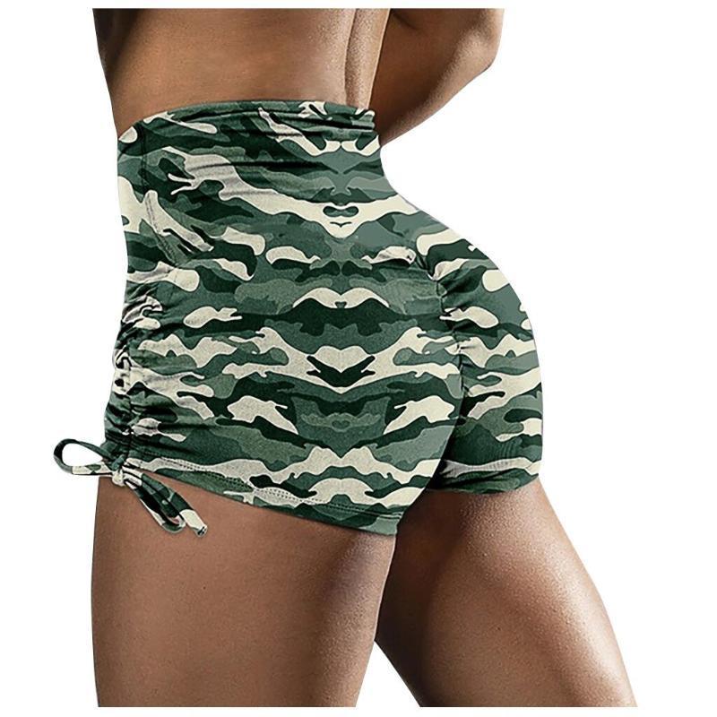 Kadınlar Spor Spor Spor Spor Salonu Giyim Skinny Kısa Pantolon Wear Spor Kamuflaj Bayanlar Jogger Yoga Pantolon D30