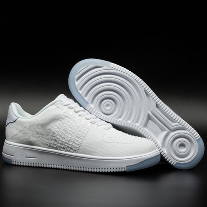 2018 бесплатная доставка новый fly one forces классический Все белый черный High Fly line Мужчины Женщины Повседневная обувь Forceing обувь размер 36-45
