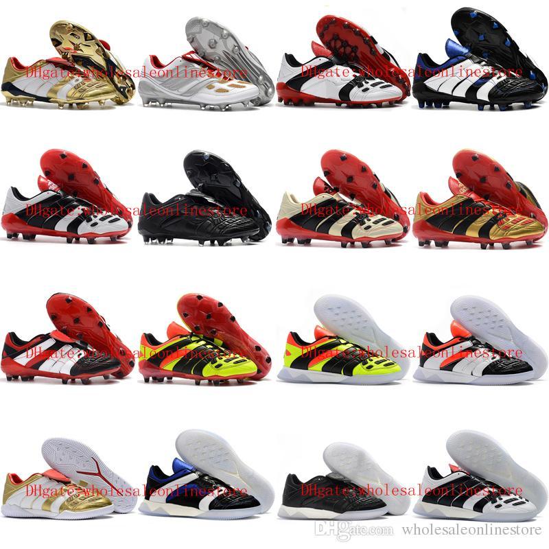 2019 scarpe da calcio da uomo di alta qualità PREDATOR ACCELERATOR Elettricità FG Tacchetti da calcio Scarpe da calcio indoor botas de futbol Oro