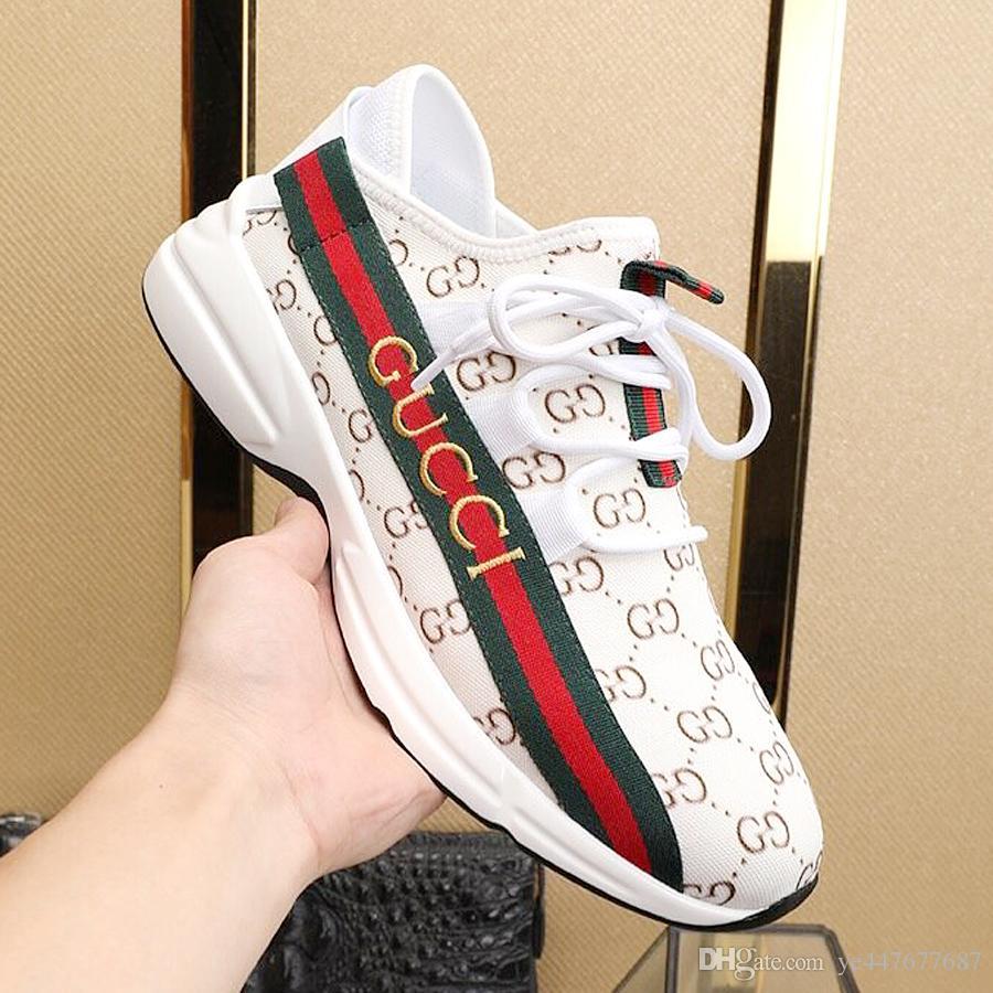 Nouveau chaussures de marque est le luxe des hommes de mode de la mode baskets haute qualité nouveau modèle chaussures de sport de marque QJ02 chaussures en plein air avec la boîte originale QO