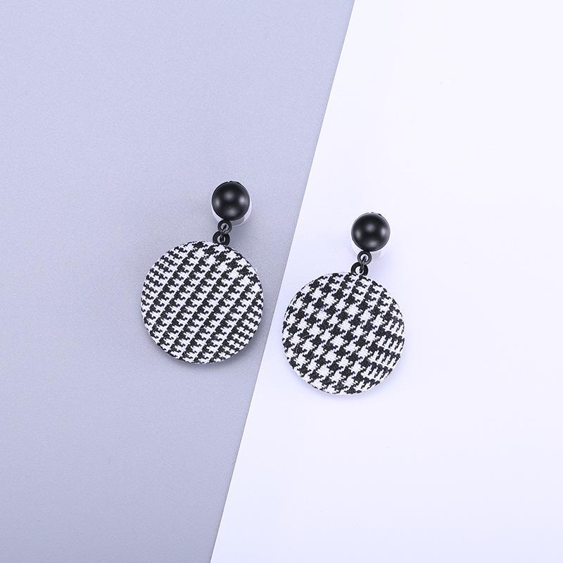 Designers Nova Primavera Cool Fashion Fabric Brincos Moda Criativa All-jogo Brincos fabricantes de jóias