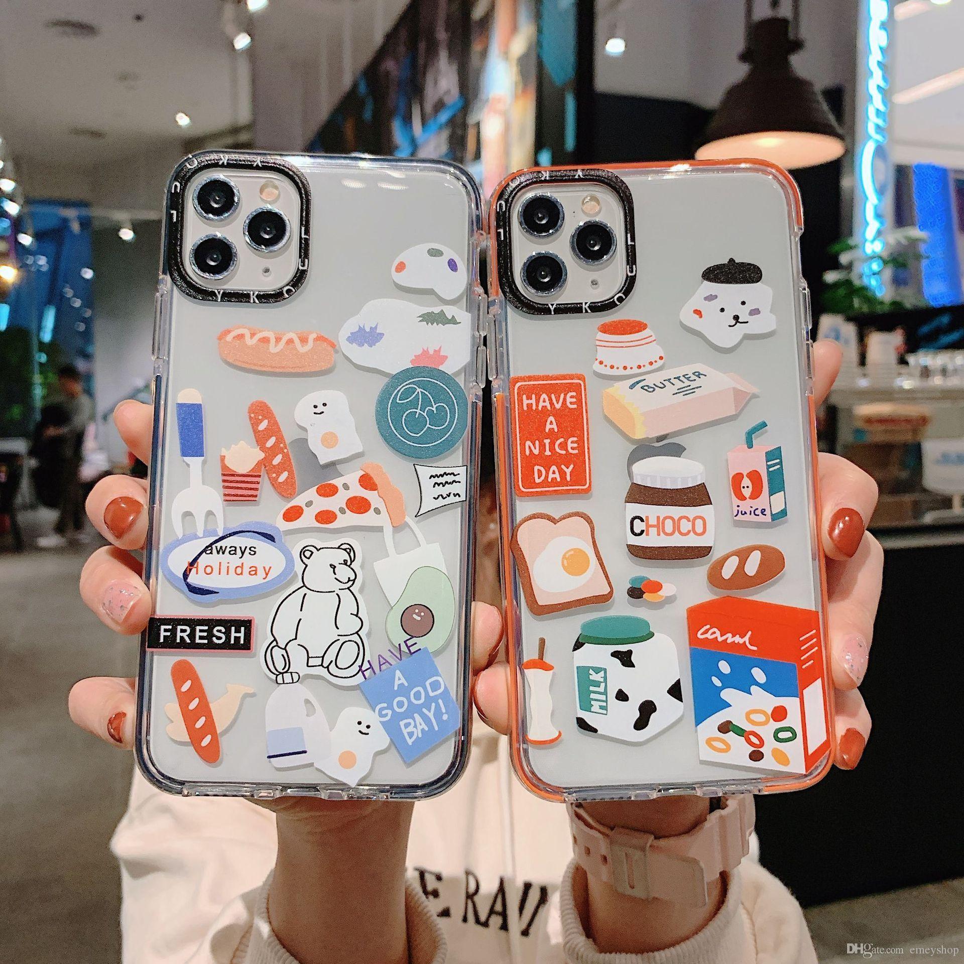 Luxo bonito macio dos desenhos animados do telefone de TPU para iphone XS MAX XR Coque para iphone 12 11 pro max 7 8 Plus Sesame Street tampa transparente