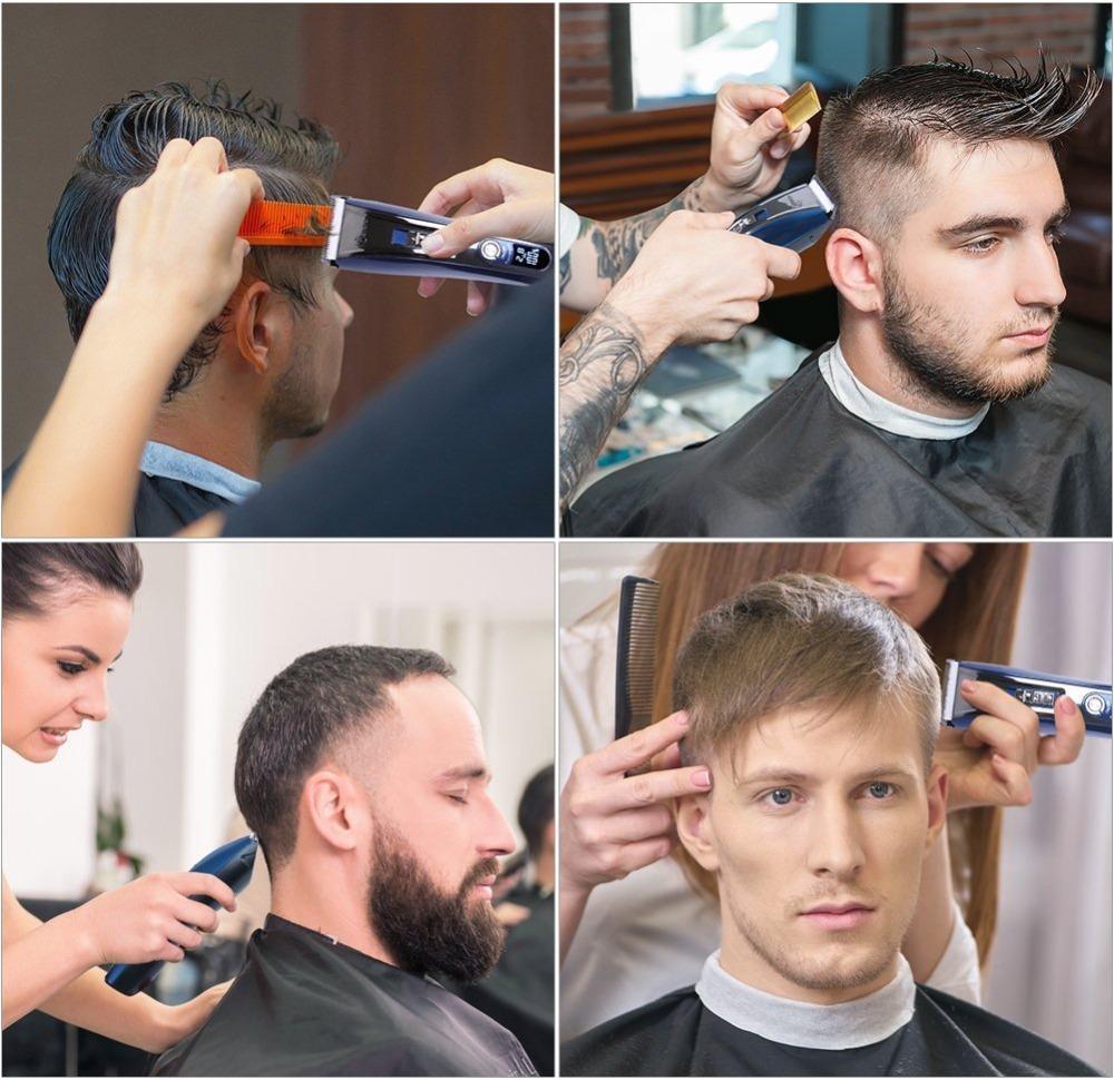 profissionais homens trimer elétrica aparador de barba cabelo barbeiro cortar o cabelo clipper cordless cortador elétrico corte máquina de corte