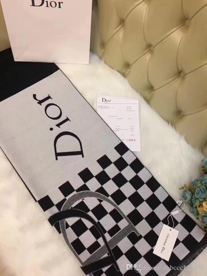 Le designer de mode hiver haut cachemire hommes marque et de luxe de femmes 2019 grandes grandes lettres foulard illimité écharpe couverture surdimensionné