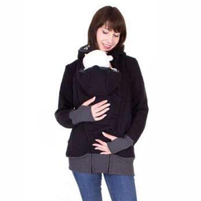 Nuevos 2018 ropa de moda de manga larga con capucha de maternidad Hoodies para las mujeres embarazadas son portadoras de hoddie capa de la cremallera del niño del bebé