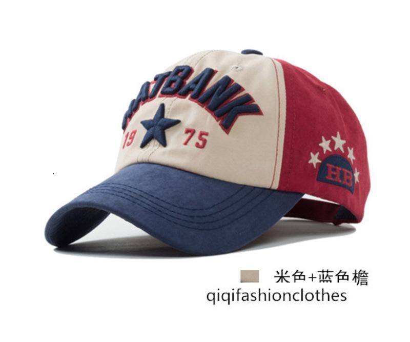 Embroidered letter five-pointed star Cricket-cap baseball cap men women outdoor sports cap visor cap