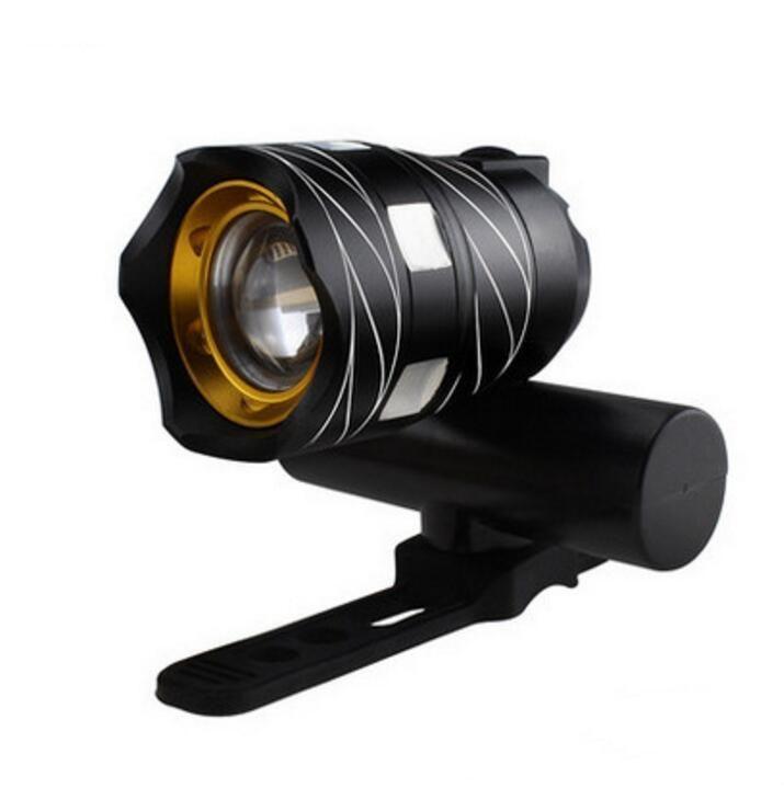 XML T6 LED Bisiklet Işık Bisiklet Ön Lamba Zoomable Meşalesi Far USB Şarj edilebilir Dahili batarya 350LM Bisiklet Lambası Bisiklet Aksesuarları