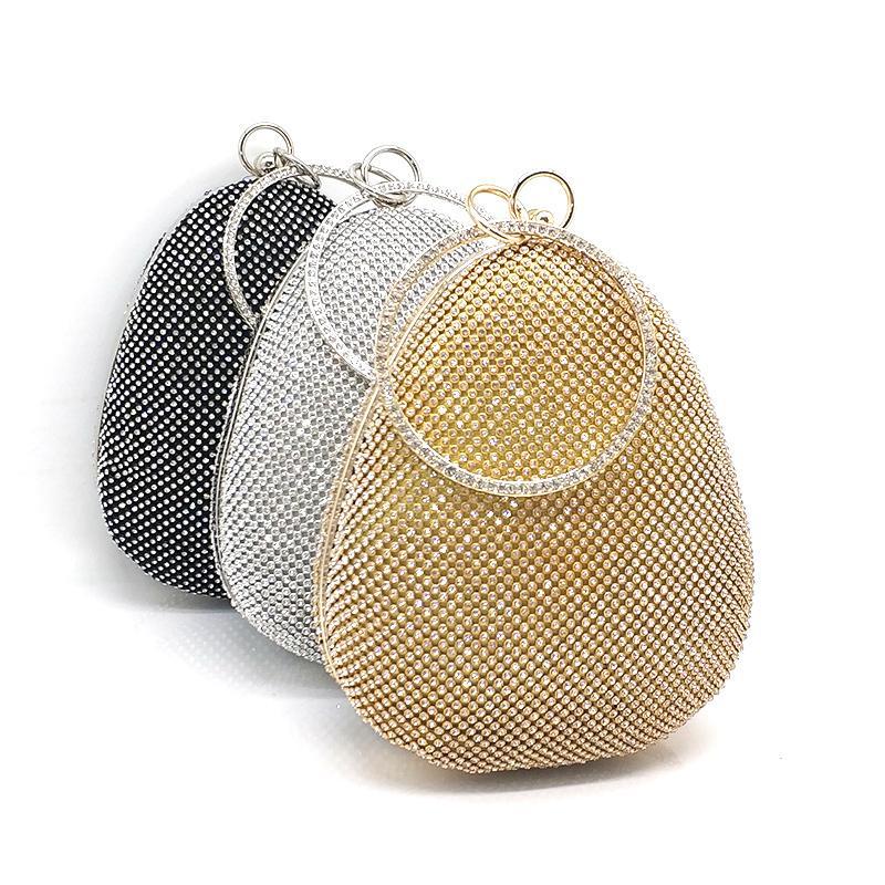 Diamantes de la moda Monederos de las mujeres del partido de tarde garras en forma de huevo Monederos nupcial del banquete de boda monedero Y190626
