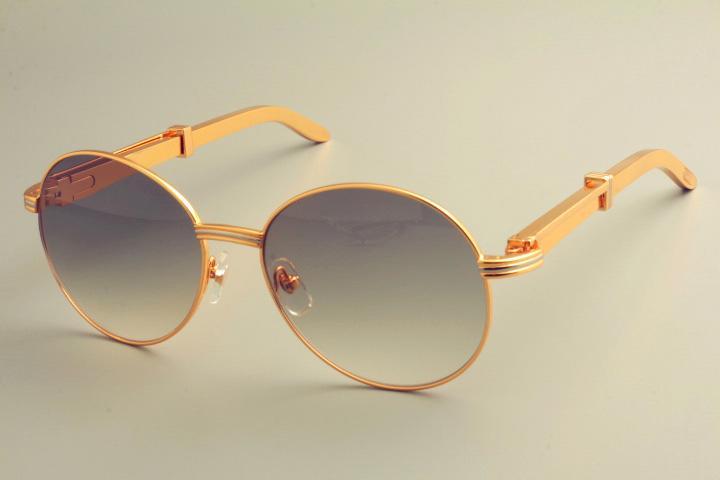 2019 الجديدة الشحن المجاني الساخن بيع جولة إطار النظارات الشمسية 19900692 النظارات، والرجعية الأزياء واقي من الشمس، الفولاذ المقاوم للصدأ الهيكل المعدني النظارات الشمسية