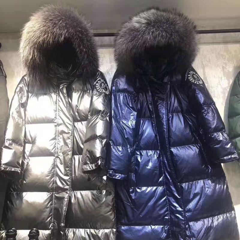 All'ingrosso-2019 Giacca 100% bianco dell'anatra giù signore caldo del rivestimento di pelliccia naturale donne Pure di New Down Jacket di modo delle donne,