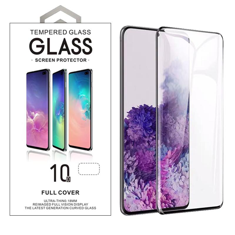 Case Friendly 3D 10D Curved Tempered Glass For Samsung S8 S9 S10 Plus Note 9 10 Plus S20 Plus Ultra With Retail Package