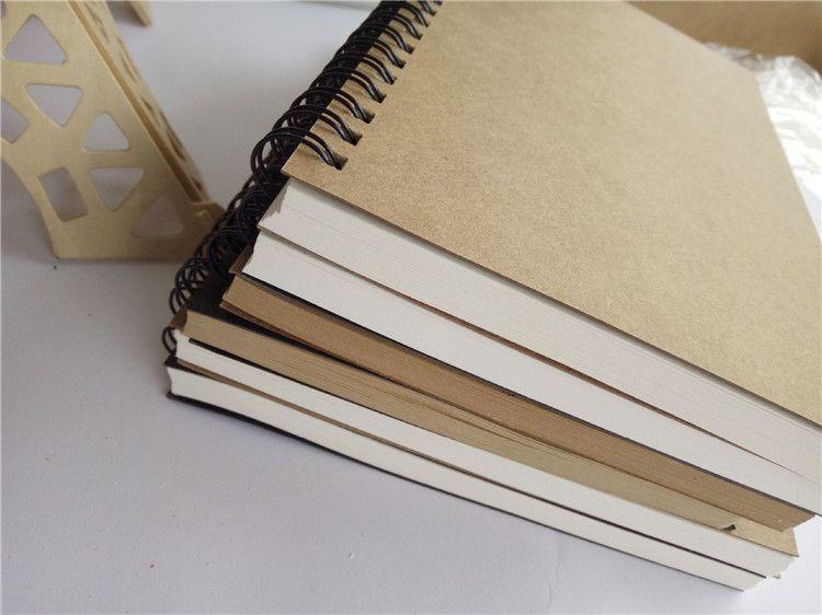 크래프트 종이 메모장 사무 용품 고품질 크리 에이 티브 스케치북 낙서 메모장 빈 노트북 핫 판매