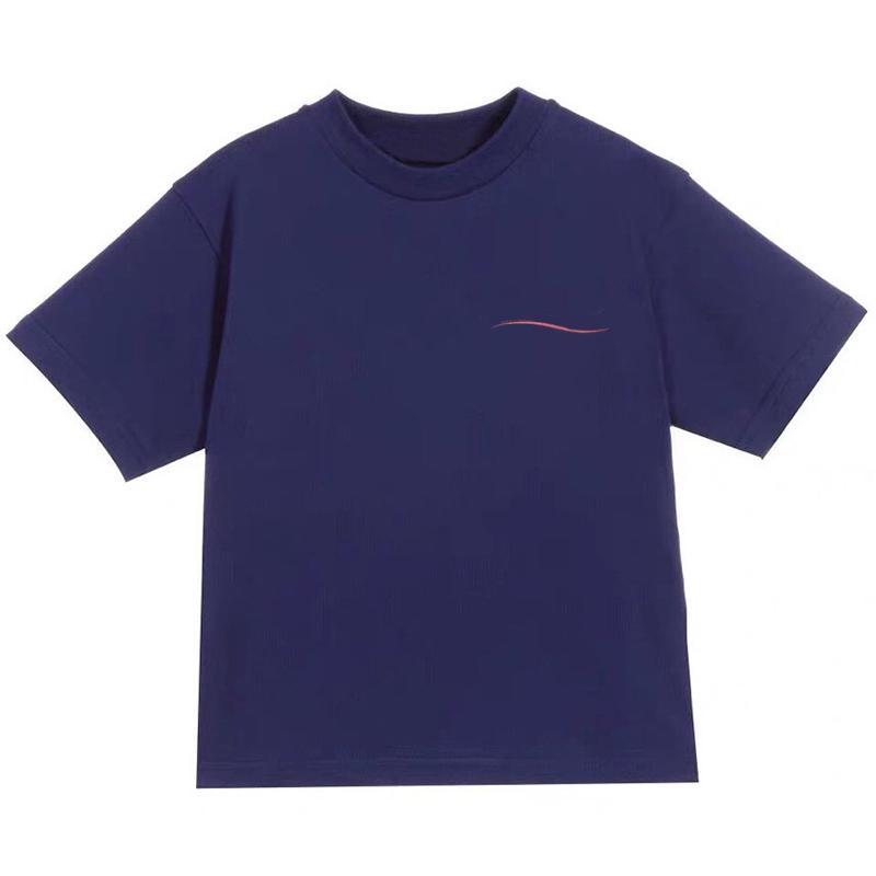Muchachas de la manera camiseta muchachos letra del verano de los niños de impresión de manga corta camisetas de algodón adolescente Niños Tops Niños altos ropa de calidad