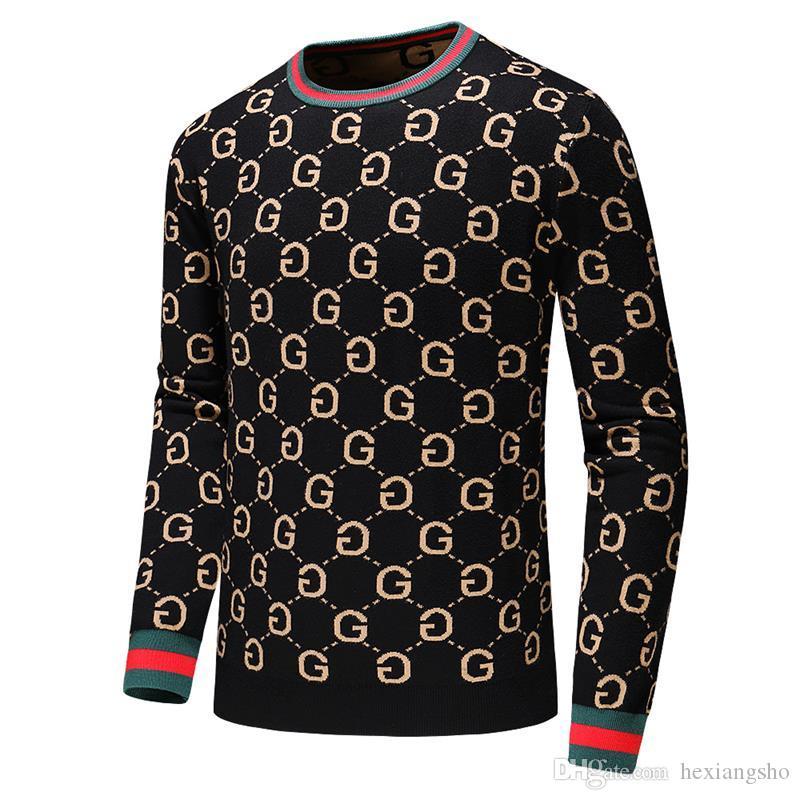 Suéter Pullover Hombres Marca Sudadera Con Capucha Camiseta de Manga Larga Diseñador Bordado Prendas de Punto Invierno Nuevo Diseñador Ropa de Hombre M-3XL D3