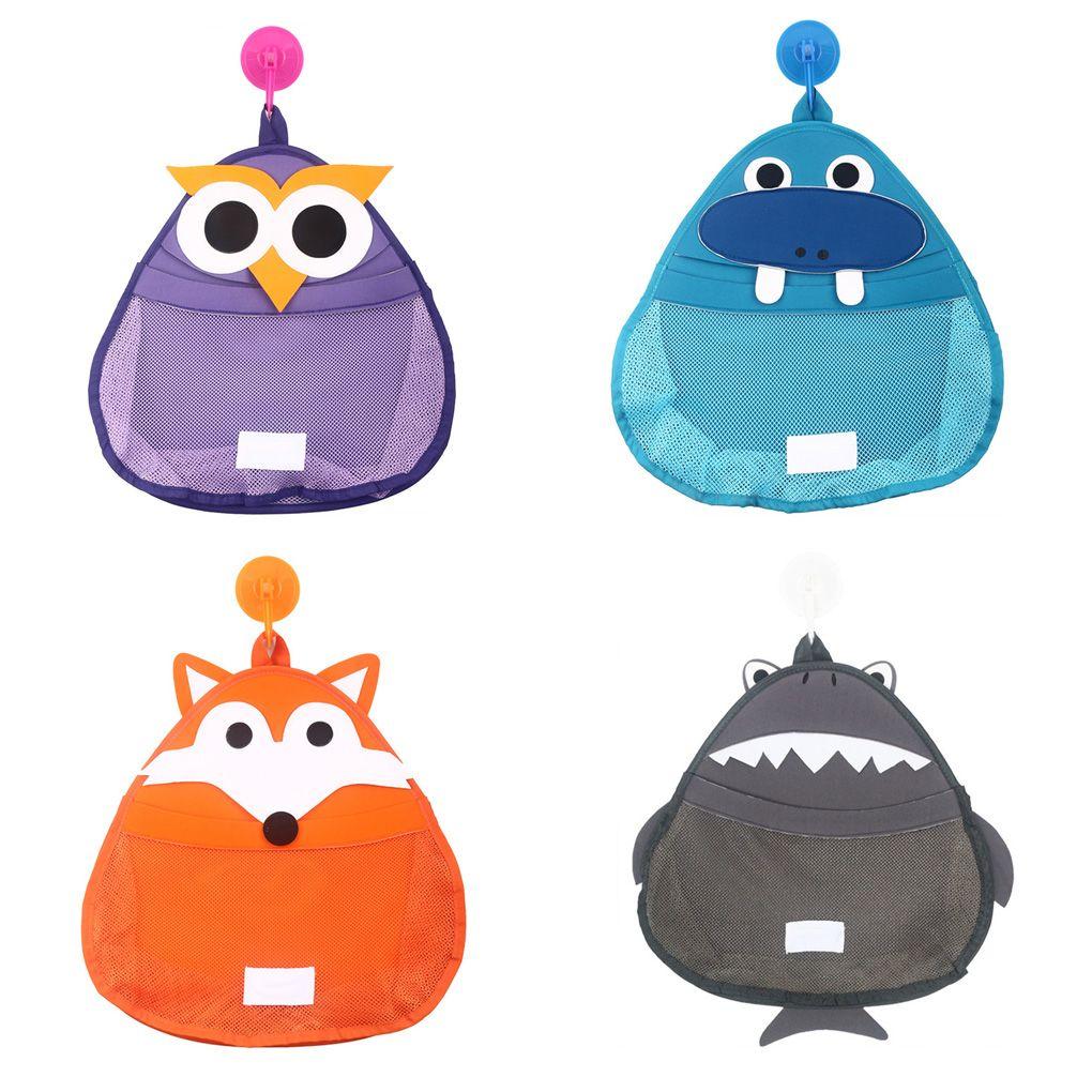 Armazenamento Toy banho do bebê dos desenhos animados Bolsas Crianças Duche Sundries Tidy Organizador Banho rede de malha de suspensão Pouch