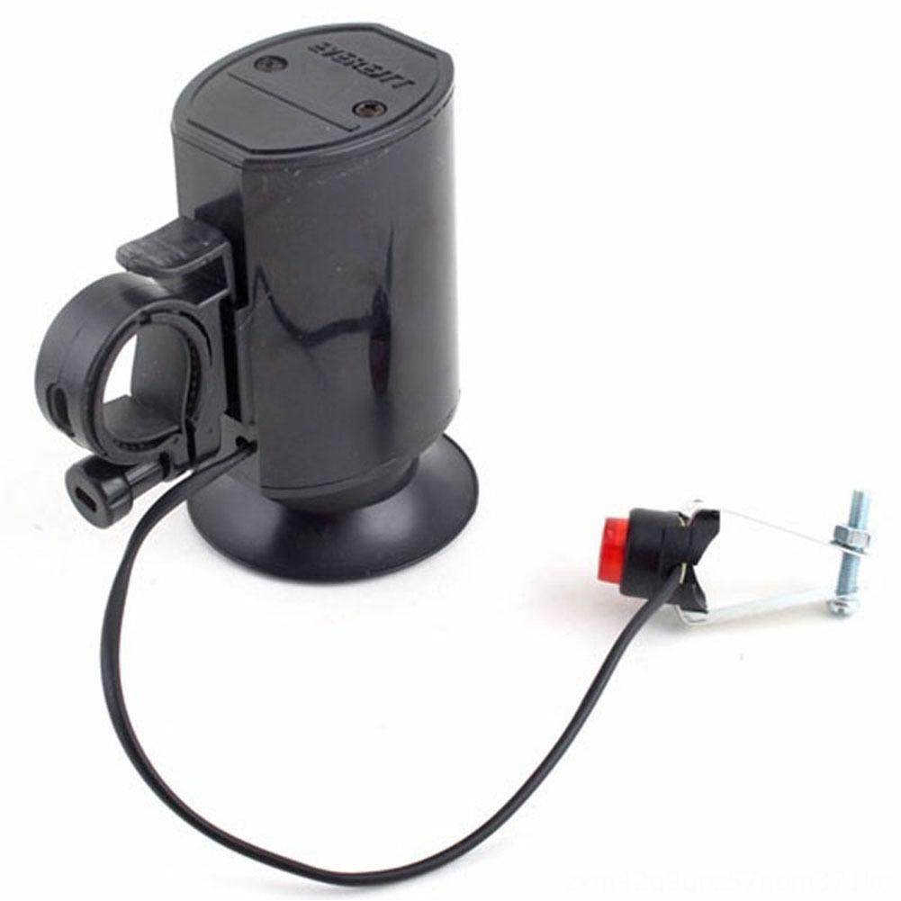 Fahrrad Elektronische Glocke Horn Wasserdicht Schwarz 6Sounds Ultraloud Zubehör Radfahren Elektronische Fahrradklingel Fahrrad-Horn-Sirene High Quality
