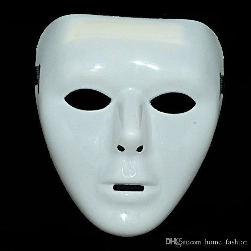 Men Women Plastic Halloween Masquerade Mask Fancy Dress Venetian Masks Masquerade Masks Hip-hop Full Face Mask