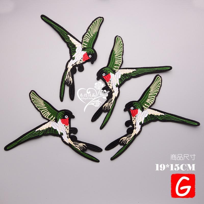 GUGUTREE Remendos pássaro grande remendo animais emblemas manchas apliques para roupas DX-181