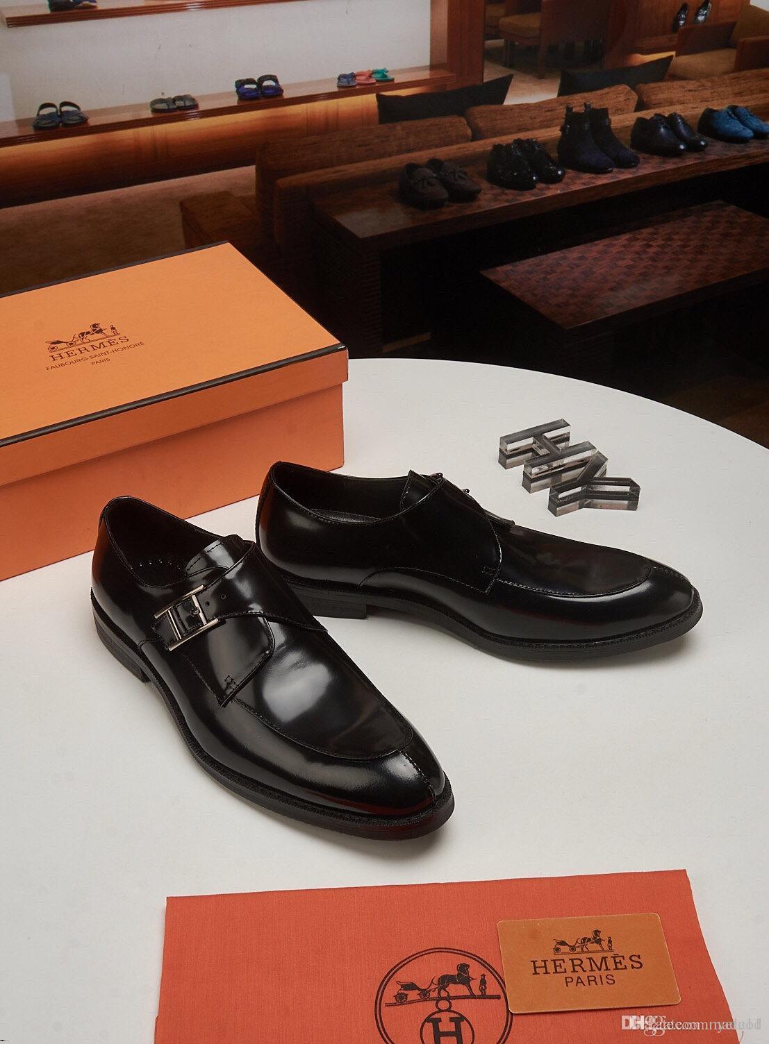 20ss Hombres Zapatos Primavera Verano cuero auténtico negocio formal zapatos casuales zapatos de vestir de lujo Oficina hombres transpirable Oxford MADAOD