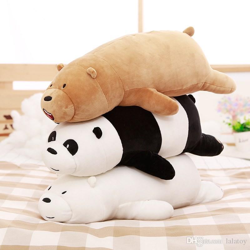 Polar bear doll plush toy bear pillow holding sleeping panda doll doll girl children holiday gift birthday gift