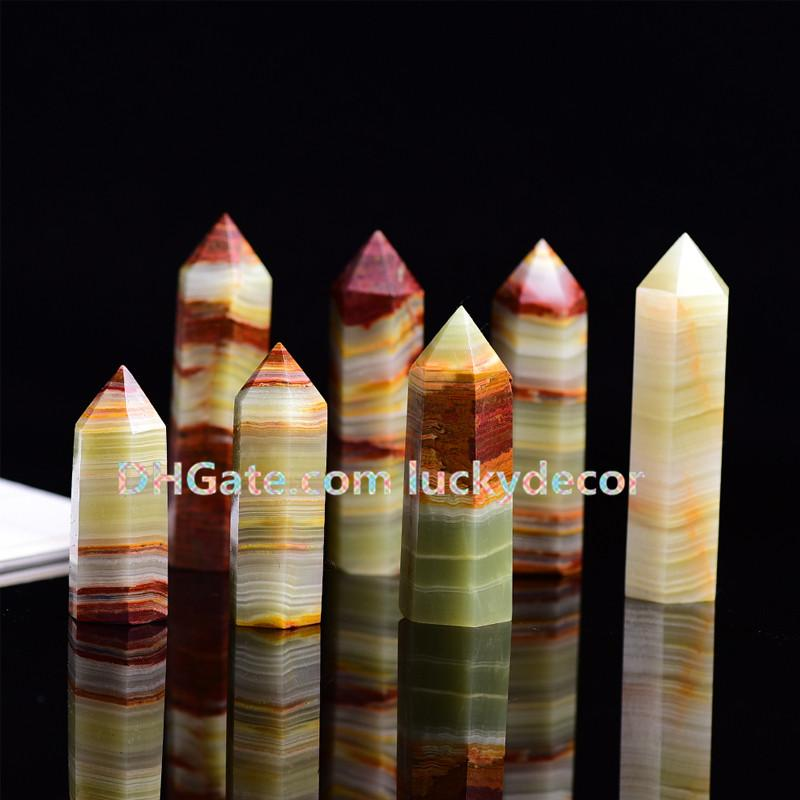 5Pcs Natural Carved Afghan Jade Crystal Obelisk Polished Quartz Pyramid Single Terminated Tower Point Reiki Healing Energy Enhanced Wand