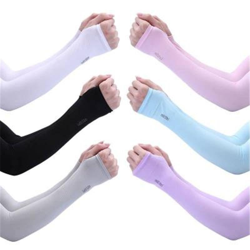 Protección solar UV 2pcs mangas del brazo calentadores de Deportes de la manga de la cubierta de refrigeración de la mano más caliente 2pcs Running Ciclismo Pesca / set R1279