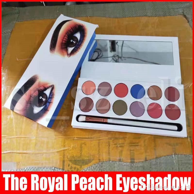 12 Color The Royal Peach Palette Pressed Eyeshadow palette Powder Cosmetics Matte Eye shadow Palette with brush