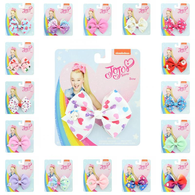 35 Styles Multi-Colored Small Bow Clip Girls Bows Clip Hair Accessories JOJO Christmas Bows Hairpin For Little Girls Kids Gift H952R