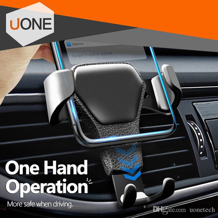 Universal Car mount Phone Holder Air Vent Stand For Car No Magnetic Phone Grip Mobile Phone Stand Holder with retail package