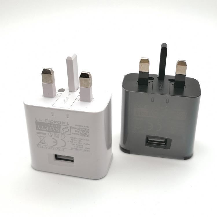 بسرعة السفر USB شاحن حائط QC 2.0 5V / 2A محول خيارات USB شاحن حائط المملكة المتحدة التوصيل للحصول على غالاكسي S8 S7 حافة S6 S6 الحافة