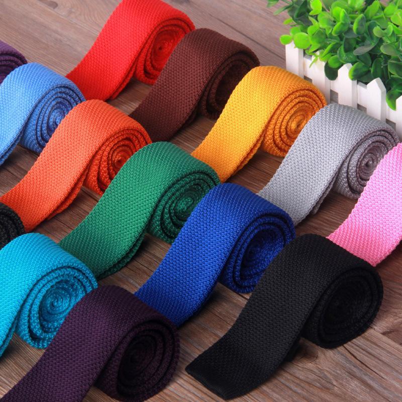 Mode Gestrickte Krawatten 20 Farben Casual Men Solid Colors Hochzeit Business Krawatten Oudoot Reise Krawatte Party Festival Geschenk TTA1495
