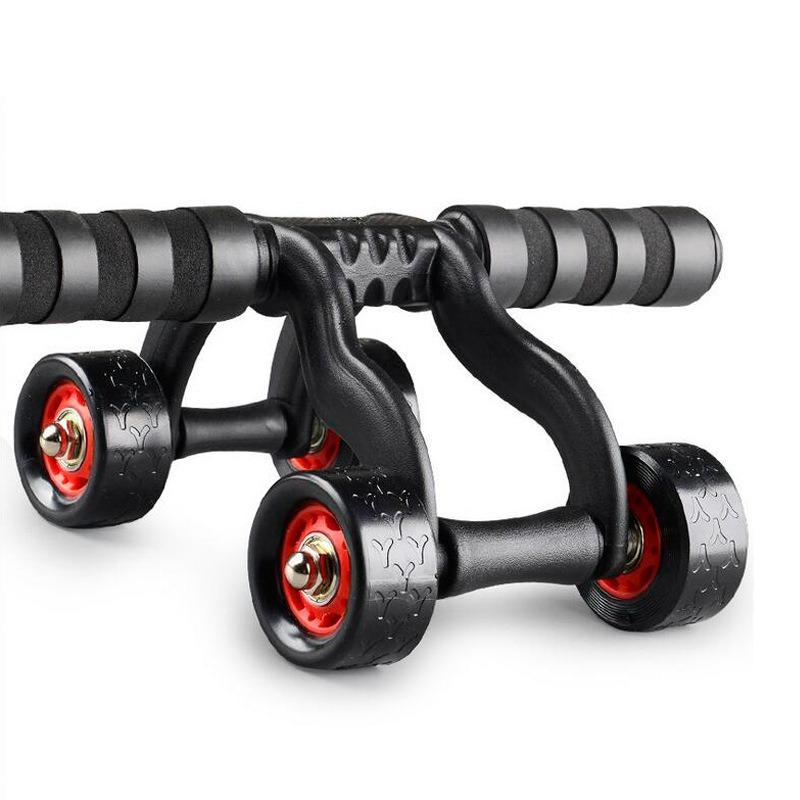 Four-Wheel Abdominal Wheel Bearing Roller Men Reduce Stomach Exercise Receiving ABS Fitness Equipment