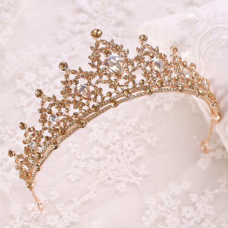 Nouveau Argent Glacé Bling Cristal Strass Tiara princesse reine couronne Key Chain