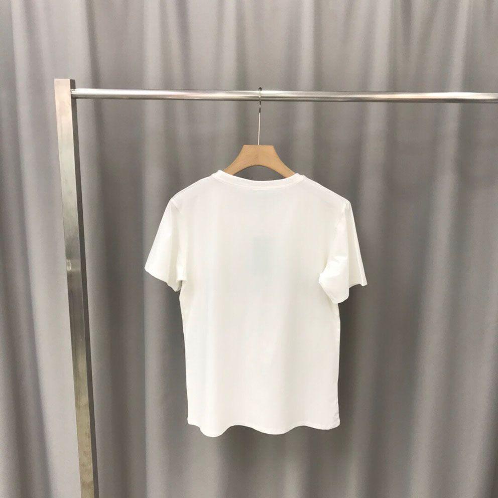 Livraison gratuite nouveau panneau printemps mode sweat-shirt et été nouveau col rond coton impression de haute qualité à manches courtes T-shirt taille S-XXL P0126
