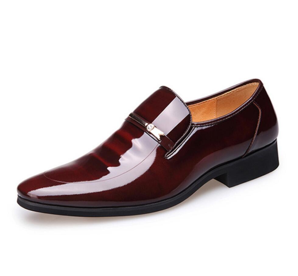 Shoes homme Erkekler gelinlik Deri Ayakkabı Kayma Moda Erkek Resmi Oxford Ayakkabı Flats Erkekler Için Sivri Burun Rahat