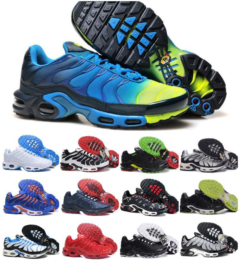 Toptan Klasik HAVA tn ayakkabı Moda Erkek Nefes Mesh Tn PLU'lar RAHAT Ayakkabı Ucuz OG Tn Chaussures Requin Eğitmenler Sneakers Zapatillaes