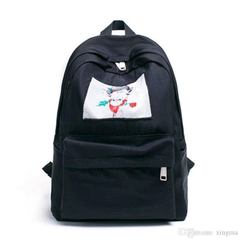 Moda Okul Çantaları Sırt Çantası Kadın Koleji Rüzgar Omuz Yaz Yeni Hit Renk Sırt Çantası Seyahat Bayanlar Çift Modelleri Sırt Çantaları