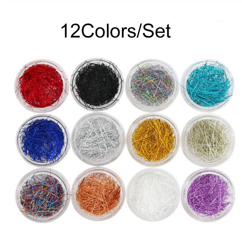12colors / Seti Kadınlar Tırnak Takı Renk Mesh Konu Işık Terapi Oje Yapışkan Kadınlar Araçları Sanat