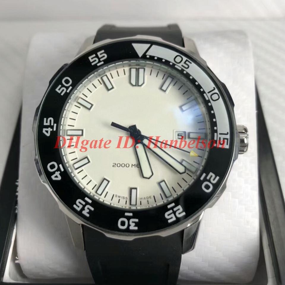 Luxusuhr IW356811 montres FAMILLE orologio di lusso hommes automatische mécanique Uhr Sport Montres-bracelets en caoutchouc bracelet visage blanc
