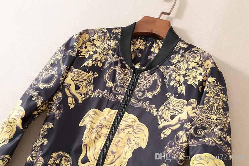 2019 New Mens Jacket Slim Jacket Men's European and American Style Simple Men's Jacket V21