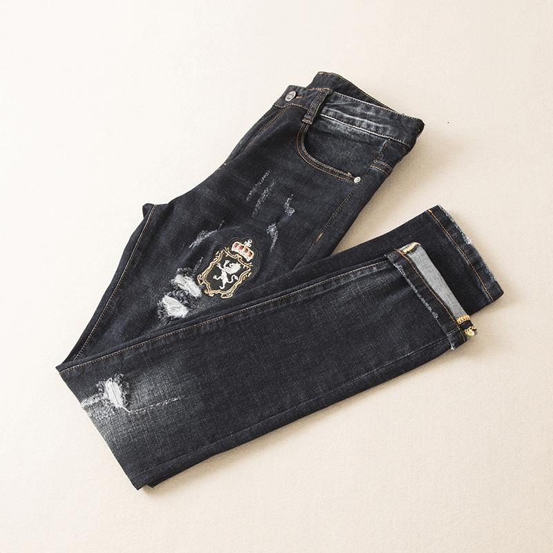 Wear desgaste dos homens dos homens desgaste dos homens de Moda de Nova E Original Designe Jeans requintados Calças retas Hj601