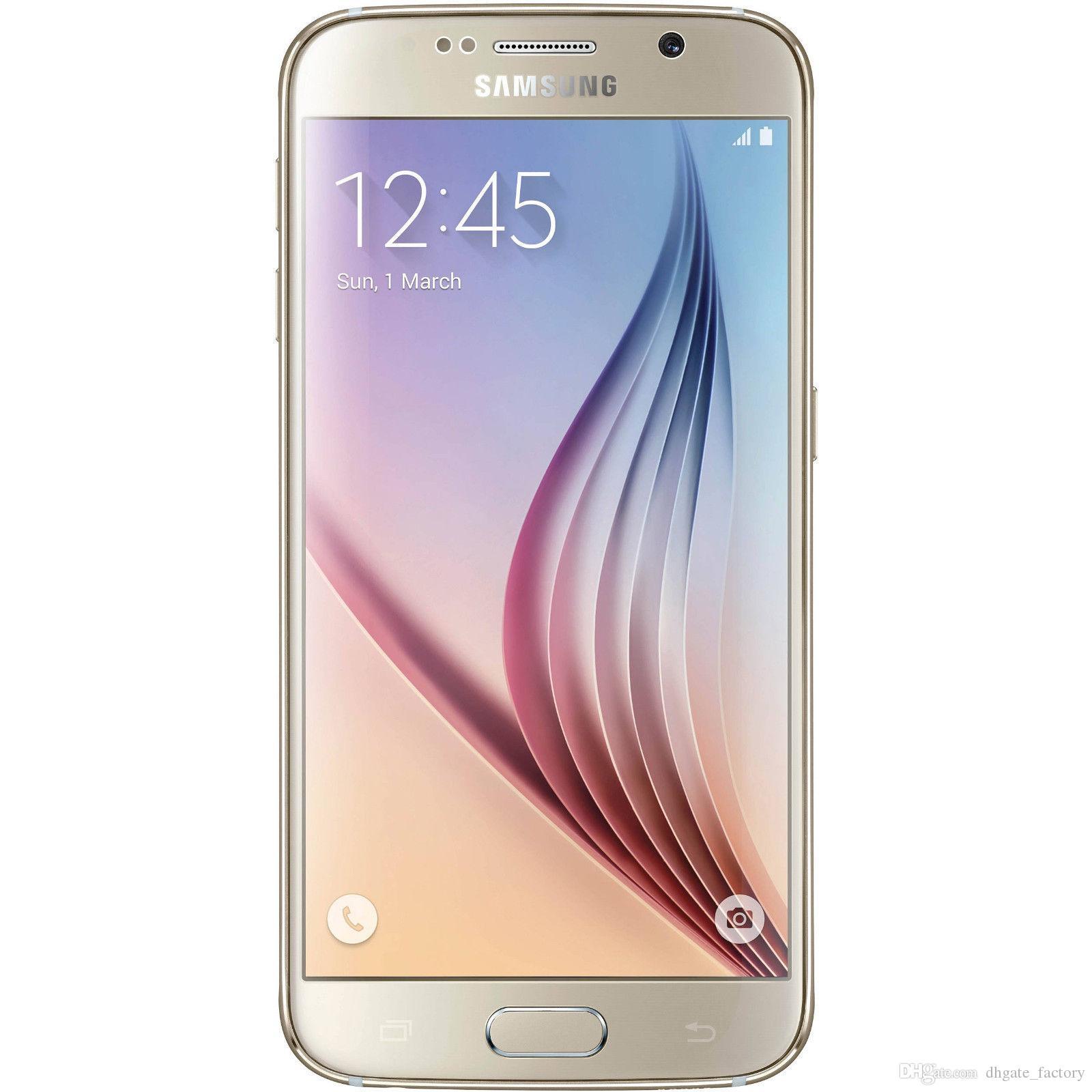 Original Samsung Galaxy S6 G925F 4G GSM Octa Core 3GB ROM 32GB desbloqueado teléfono celular restaurado Envío Gratis