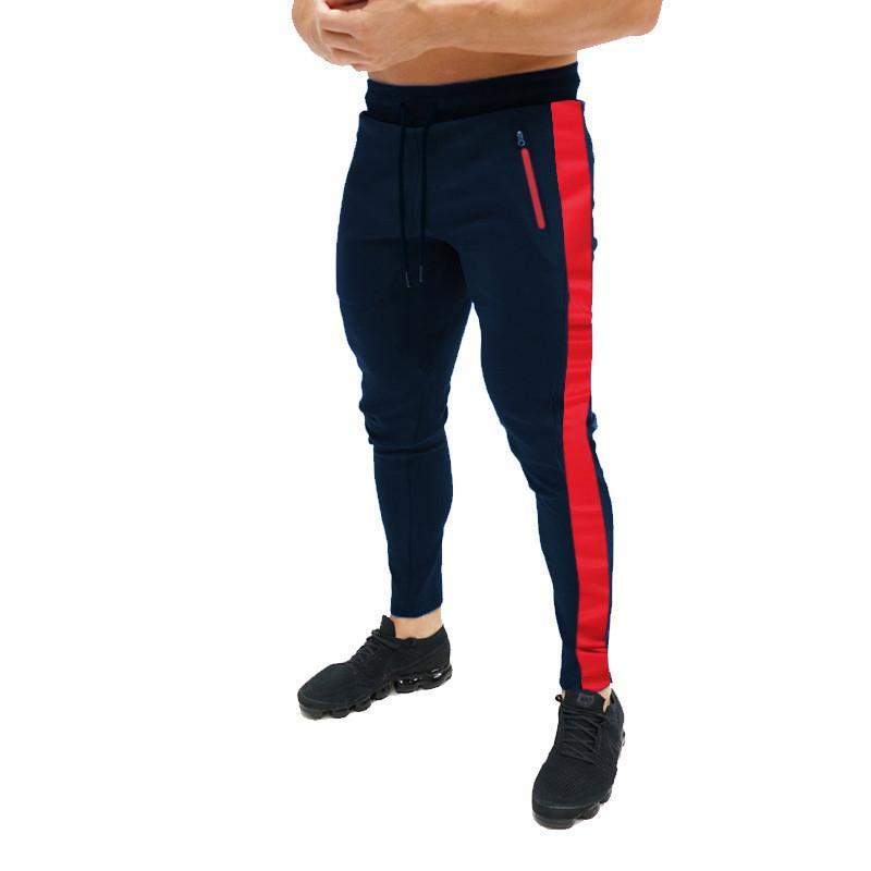 tamaño empalmado pantalones deportivos europeos de los hombres, cuatro estaciones recorrido de la manera pantalones largos, pantalones delgados ocasionales de los hombres populares