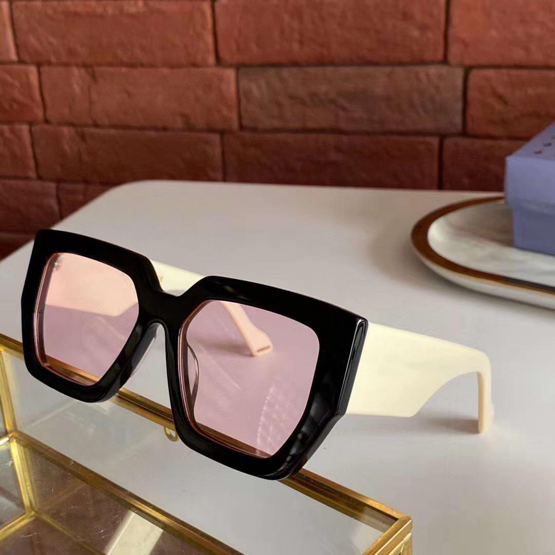 0630 Lunettes de soleil Femmes Noir d'Ivoire / Rose Objectifs Fashion Square 55mm OCCHIALI da sole Lunettes de soleil femme Shades nouveau avec la boîte